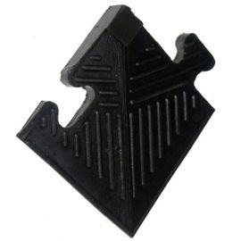 Уголок резиновый для бордюра, черный, толщина 12мм