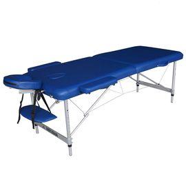Массажный стол DFC NIRVANA, Elegant LUXE, 186х70х4 см, алюм. ножки, цвет голубой (Navy)