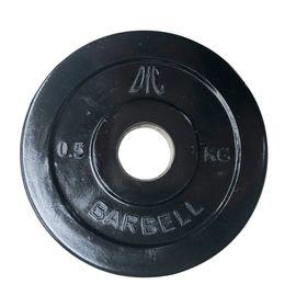Диск обрезиненный DFC, чёрный, резин.втулка, 26мм, 0,5кг