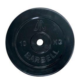 Диск обрезиненный DFC, чёрный, резин.втулка, 26мм, 10кг
