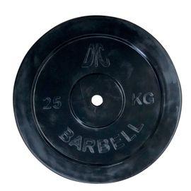 Диск обрезиненный DFC, чёрный, резин.втулка, 26мм, 25кг