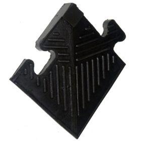 Уголок резиновый для бордюра, черный, толщина 20мм