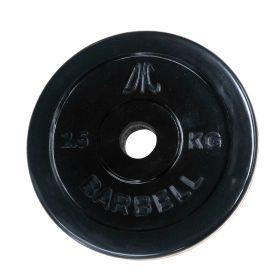 Диск обрезиненный DFC, чёрный, резин.втулка, 26мм, 2,5кг