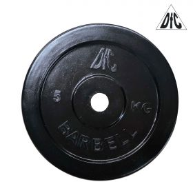 Диск обрезиненный DFC, чёрный, резин.втулка, 26мм, 5кг