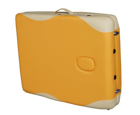 Массажный стол DFC NIRVANA, Elegant PREMIUM, 192х75х6 см, алюм. ножки, цвет оранж./беж. (orange/beig
