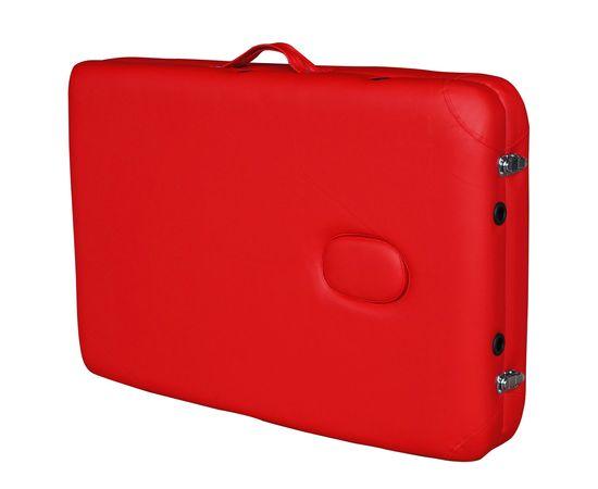 Массажный стол DFC NIRVANA, Elegant OPTIMA,  186х60х4 см, алюм. ножки, цвет красный (red)