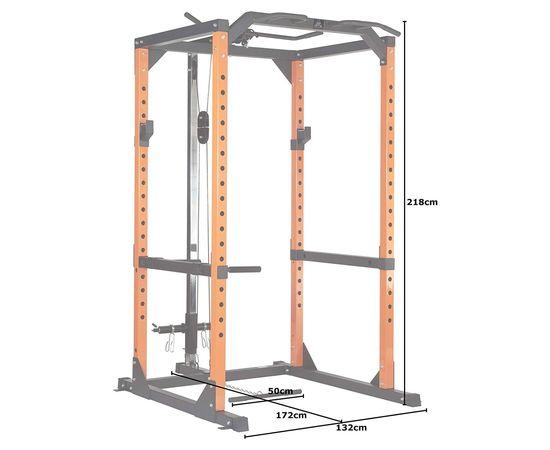 Рама силовая и тяга сверху DFC черный/оранж. (четыре короба)
