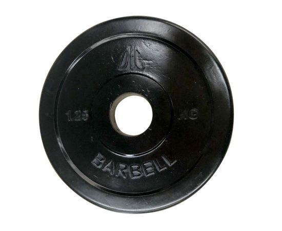 Диск обрезиненный DFC, чёрный, резин.втулка, 31мм, 1,25кг