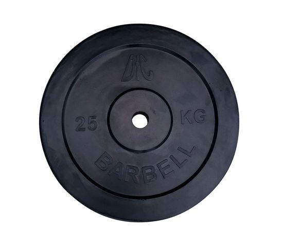 Диск обрезиненный DFC, чёрный, резин.втулка, 31мм, 25кг